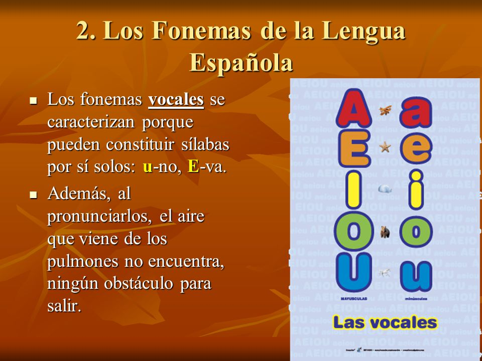 2. Los Fonemas de la Lengua Española