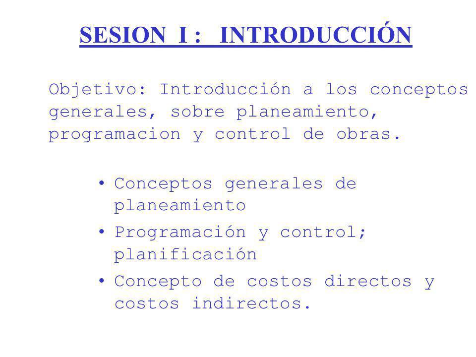 SESION I : INTRODUCCIÓN