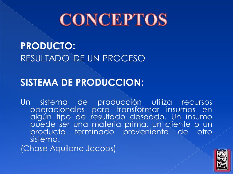 Administracion financiera ppt descargar for Proceso de produccion en un restaurante