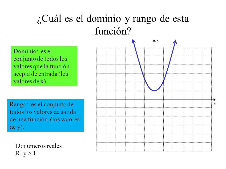 ¿Cuál es el dominio y rango de esta función