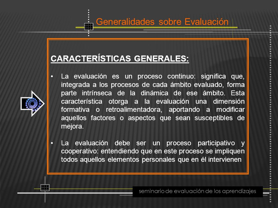 seminario de evaluación de los aprendizajes