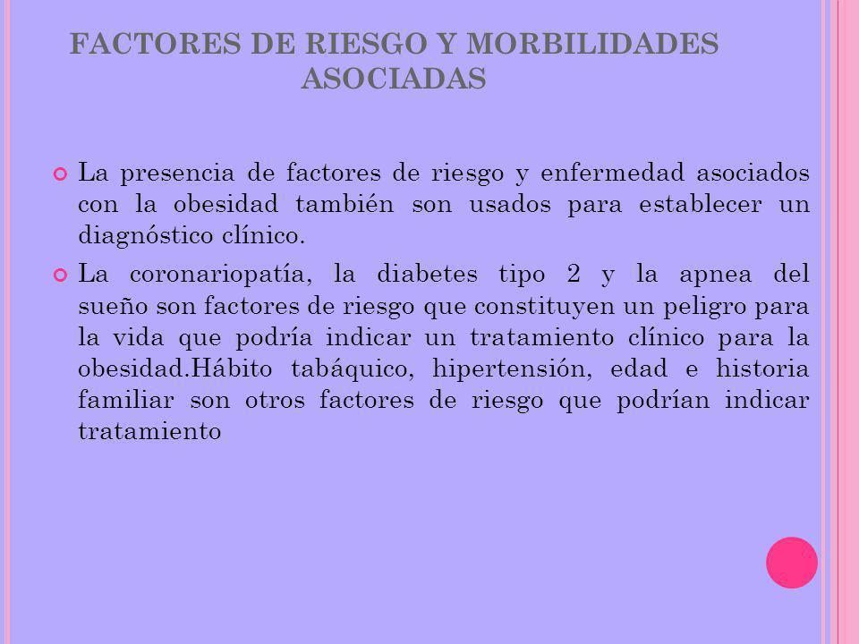 FACTORES DE RIESGO Y MORBILIDADES ASOCIADAS
