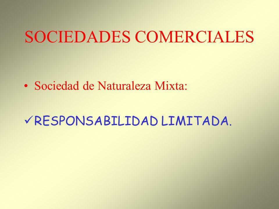 SOCIEDADES COMERCIALES