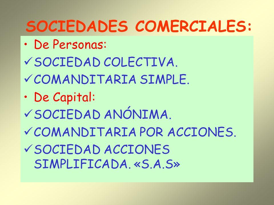 SOCIEDADES COMERCIALES: