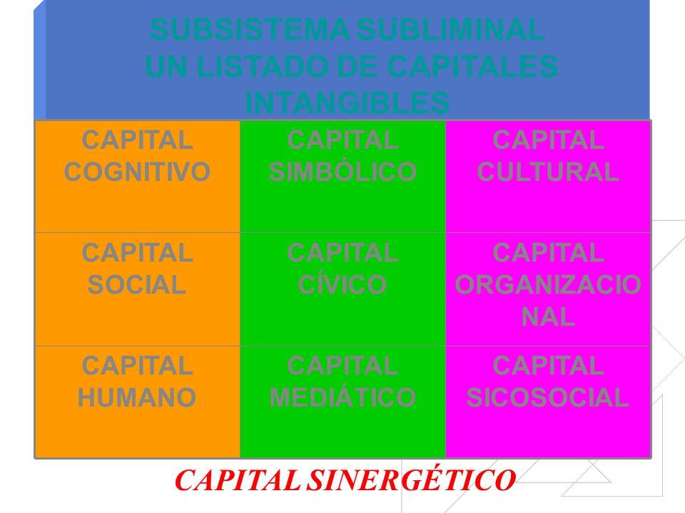 SUBSISTEMA SUBLIMINAL UN LISTADO DE CAPITALES INTANGIBLES