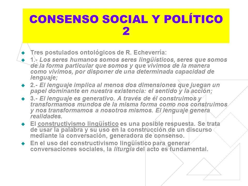 CONSENSO SOCIAL Y POLÍTICO 2