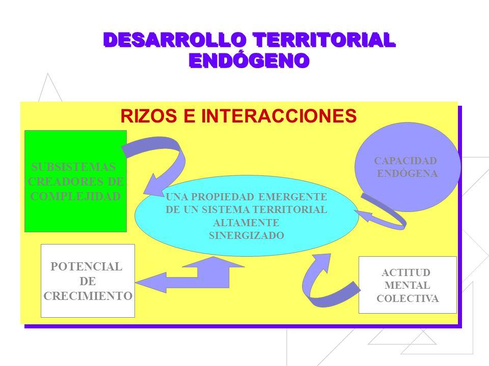DESARROLLO TERRITORIAL ENDÓGENO