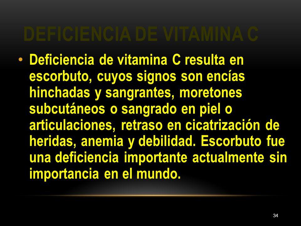 Deficiencia de vitamina C