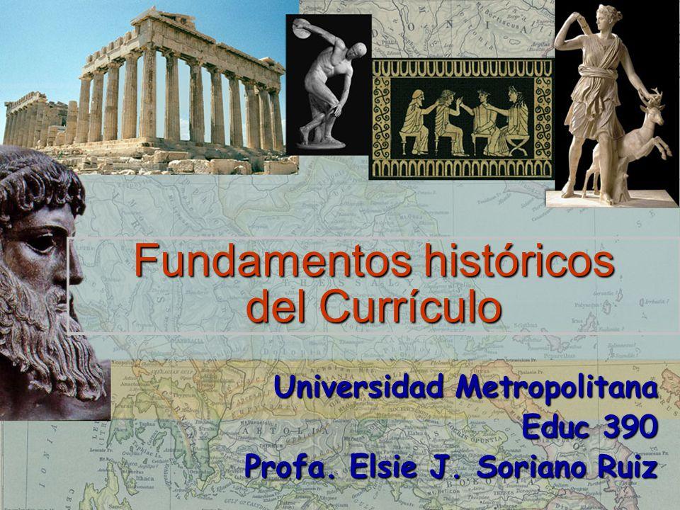Fundamentos históricos del Currículo