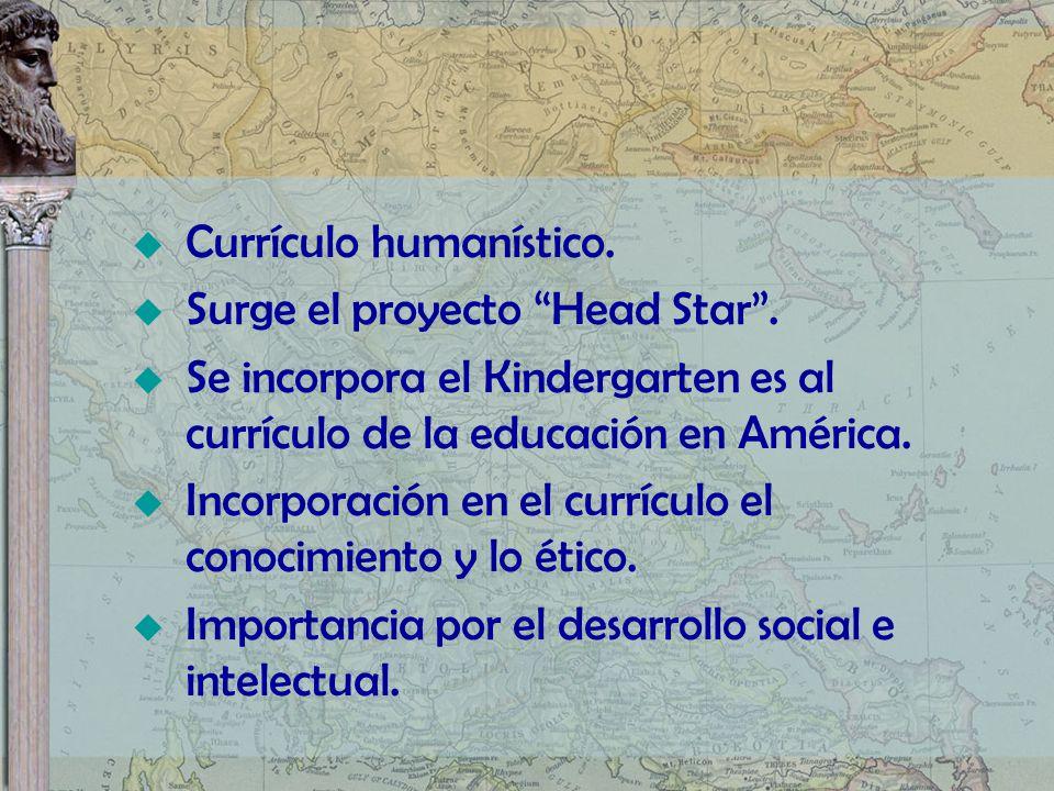 Currículo humanístico.