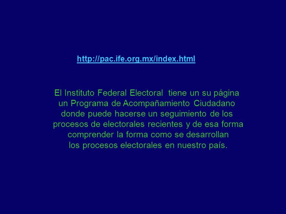 El Instituto Federal Electoral tiene un su página