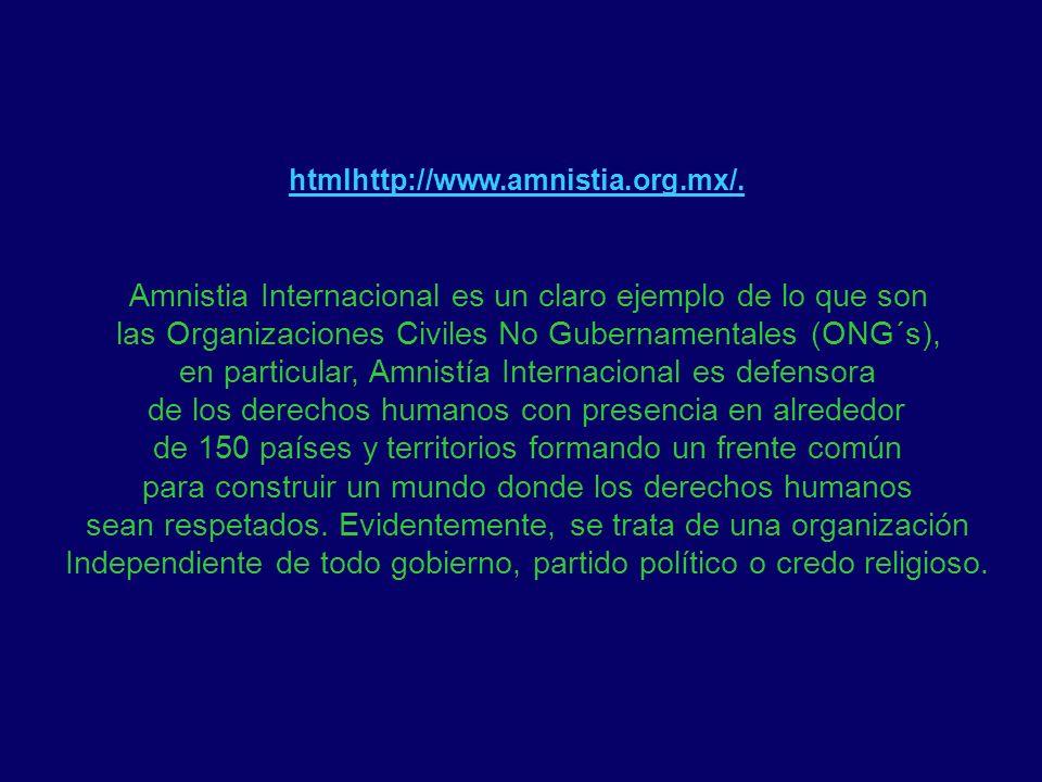 Amnistia Internacional es un claro ejemplo de lo que son