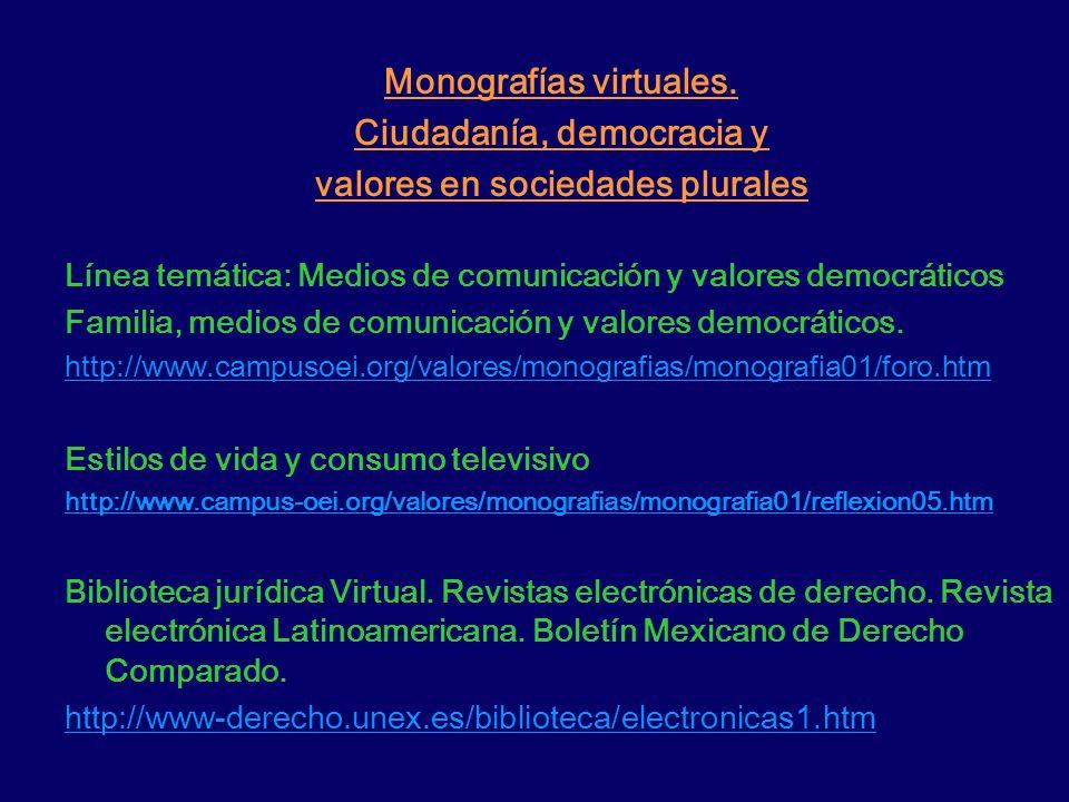 Monografías virtuales. Ciudadanía, democracia y
