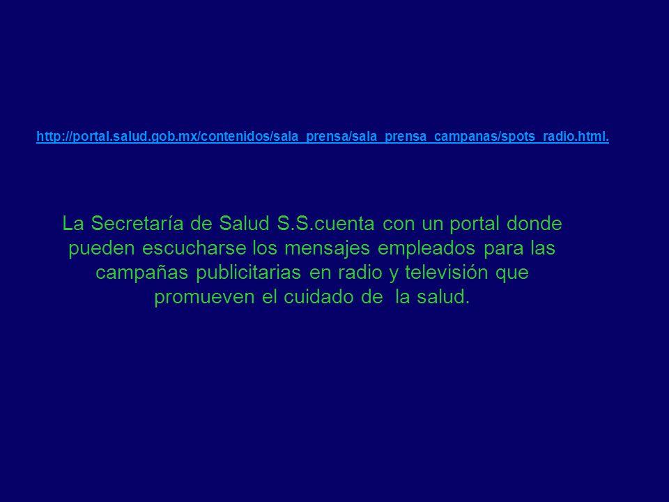 http://portal. salud. gob