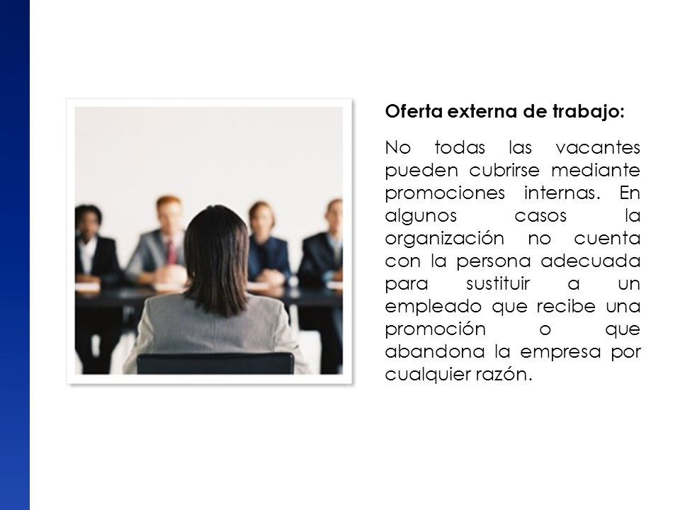 Oferta externa de trabajo: