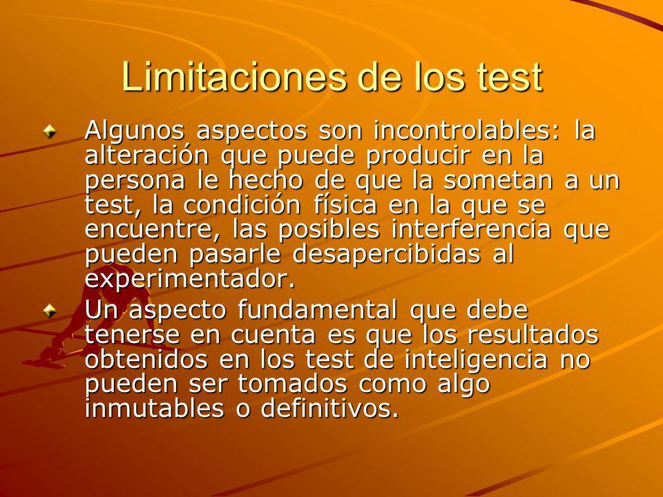 Limitaciones de los test