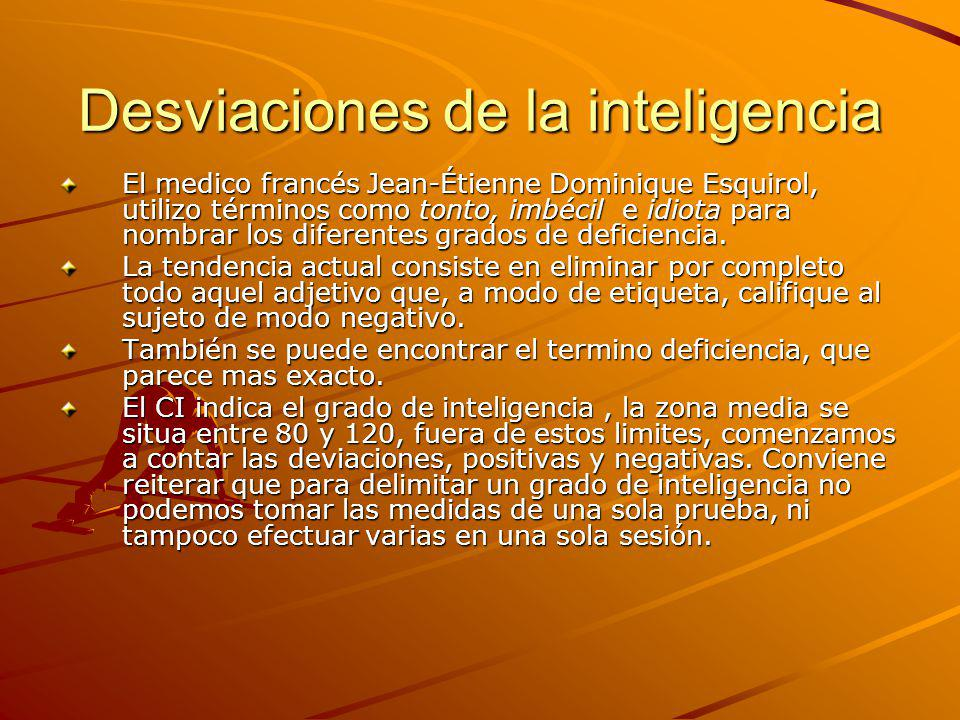 Desviaciones de la inteligencia