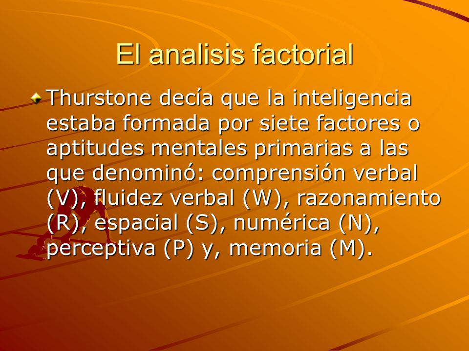 El analisis factorial
