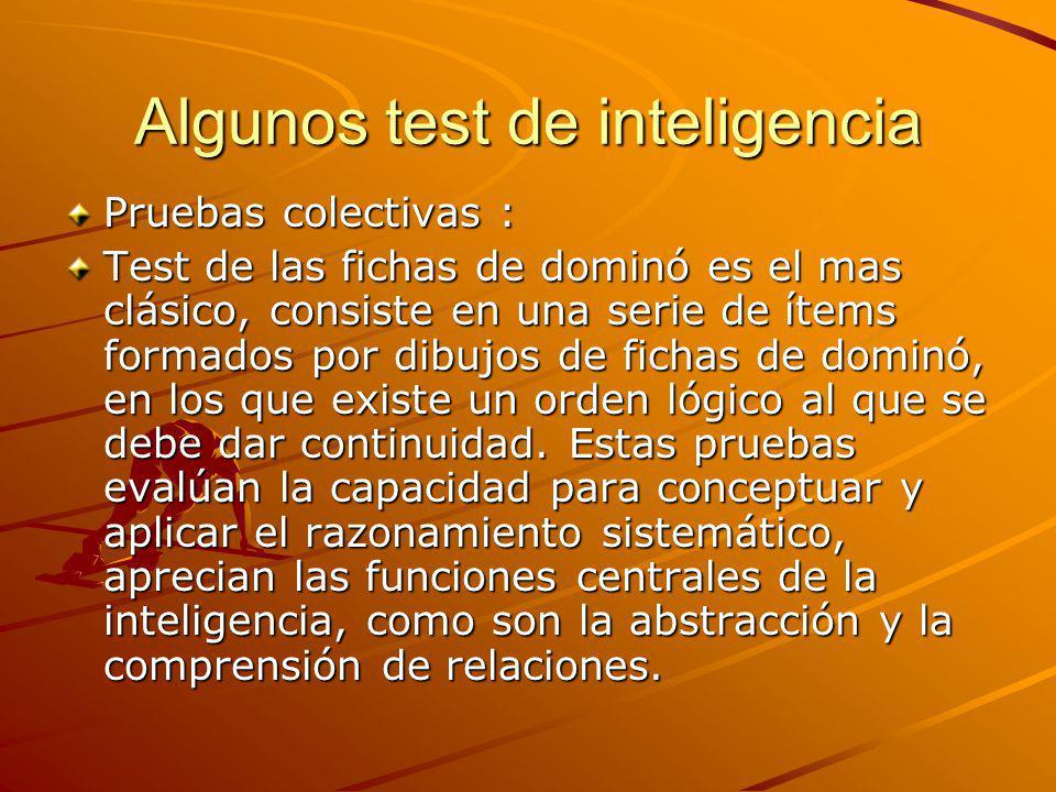 Algunos test de inteligencia