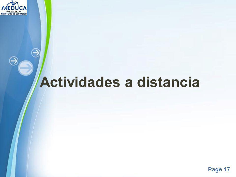 Actividades a distancia