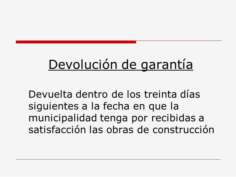 Devolución de garantía