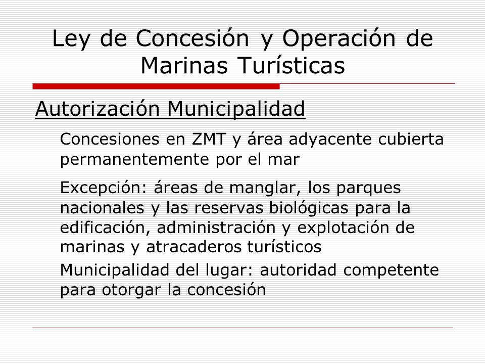 Ley de Concesión y Operación de Marinas Turísticas