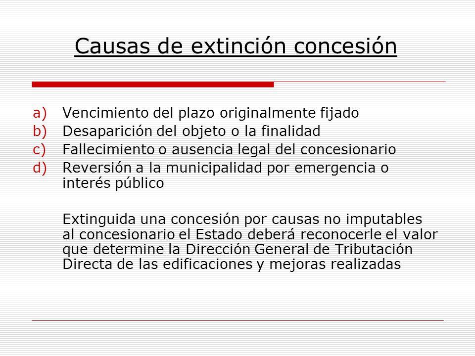 Causas de extinción concesión