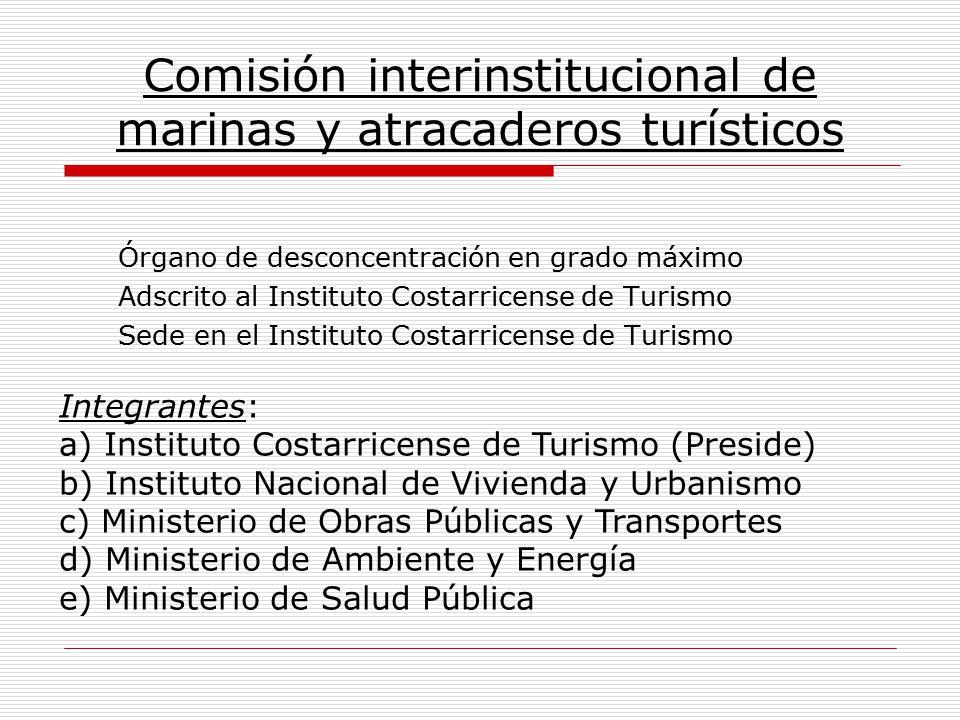 Comisión interinstitucional de marinas y atracaderos turísticos