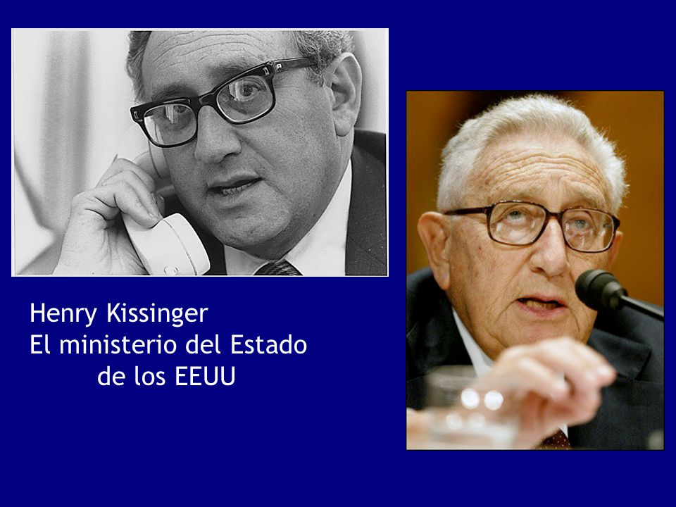 Henry Kissinger El ministerio del Estado de los EEUU