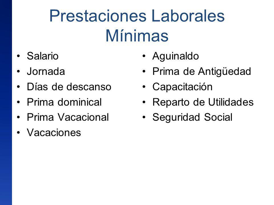 Prestaciones Laborales Mínimas