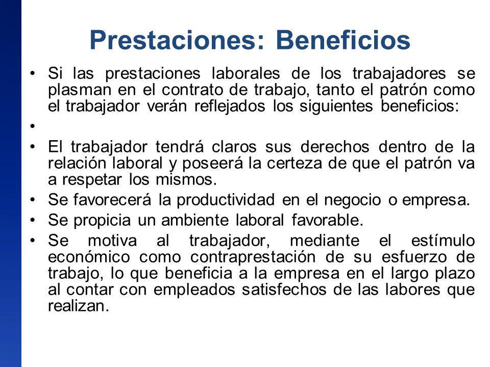 Prestaciones: Beneficios