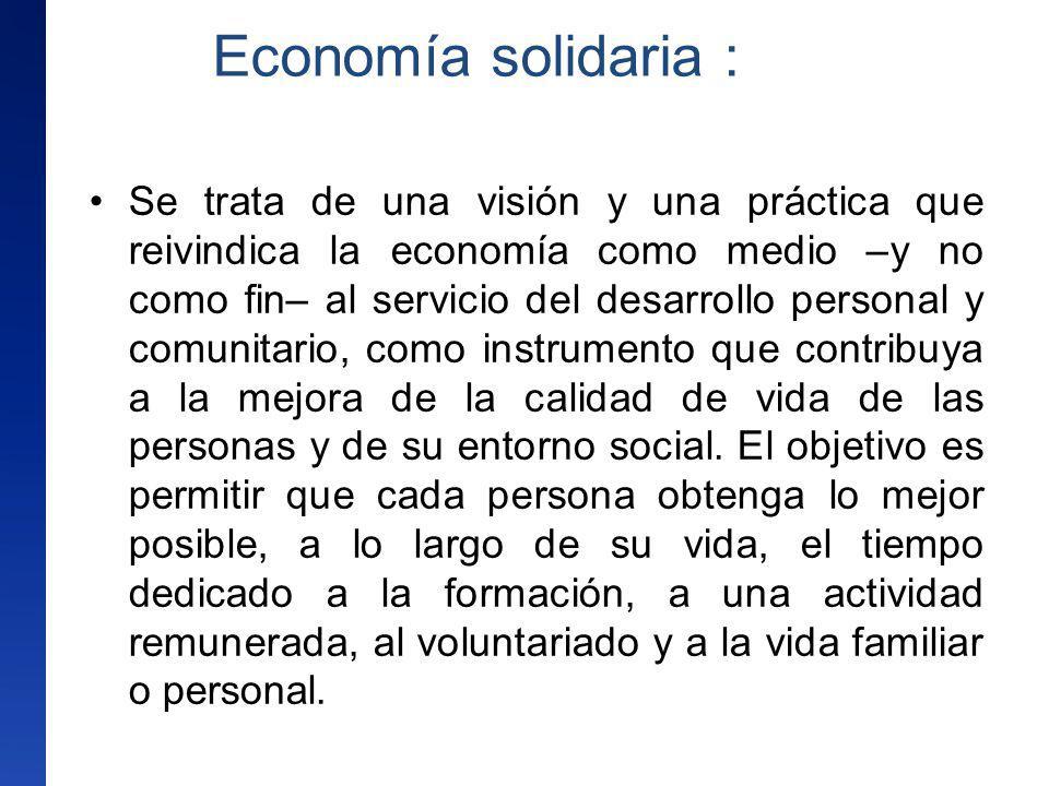 Economía solidaria :