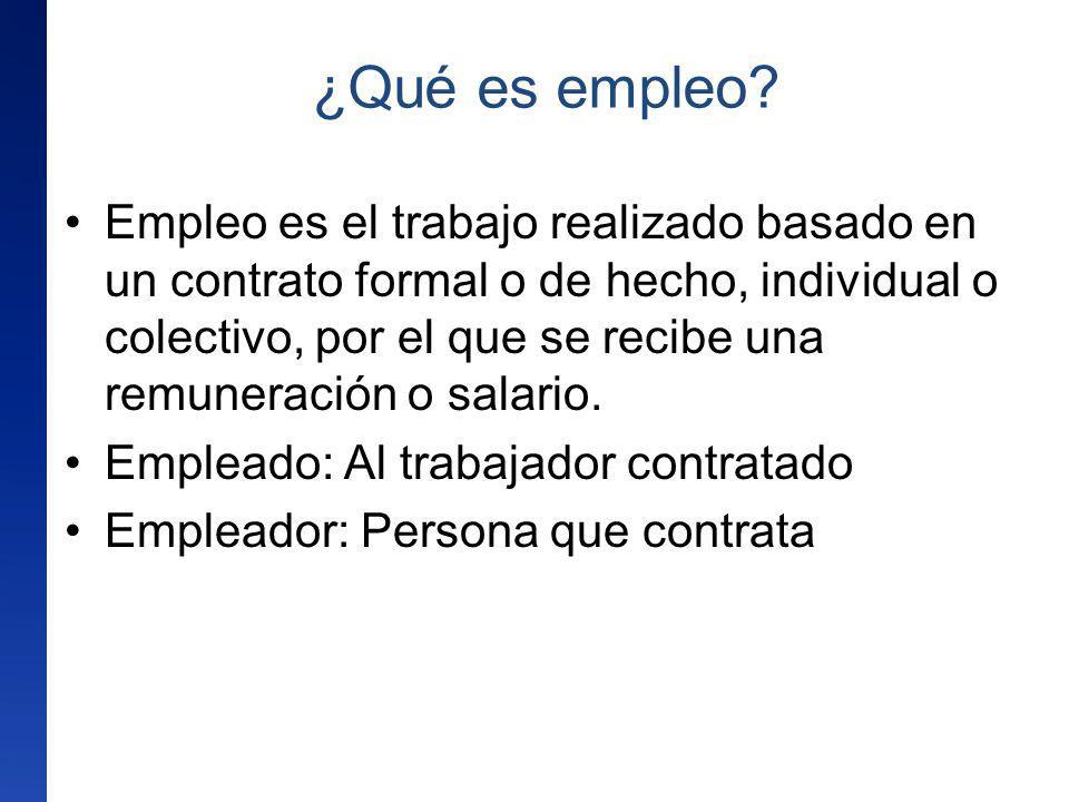 ¿Qué es empleo