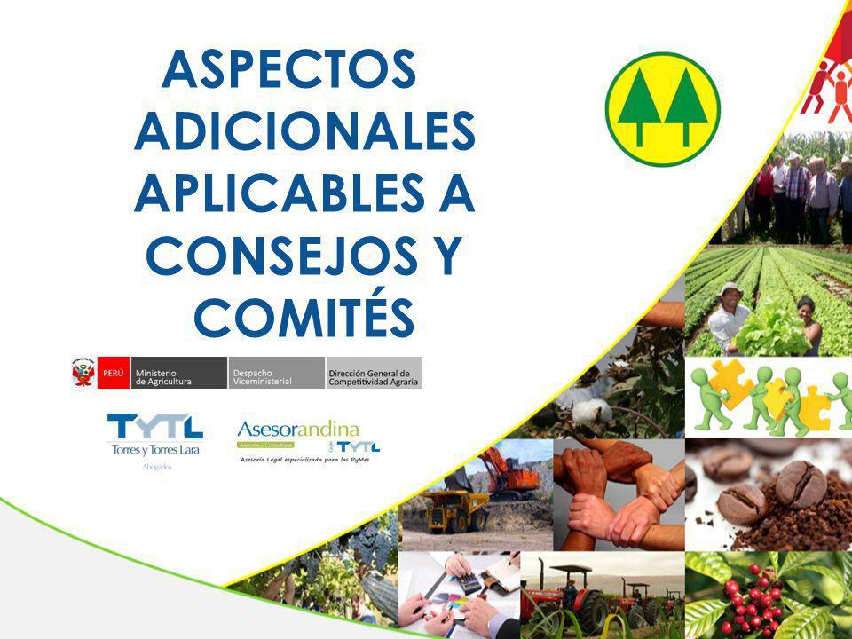 ASPECTOS ADICIONALES APLICABLES A CONSEJOS Y COMITÉS