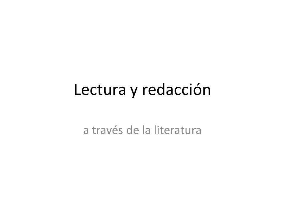 a través de la literatura