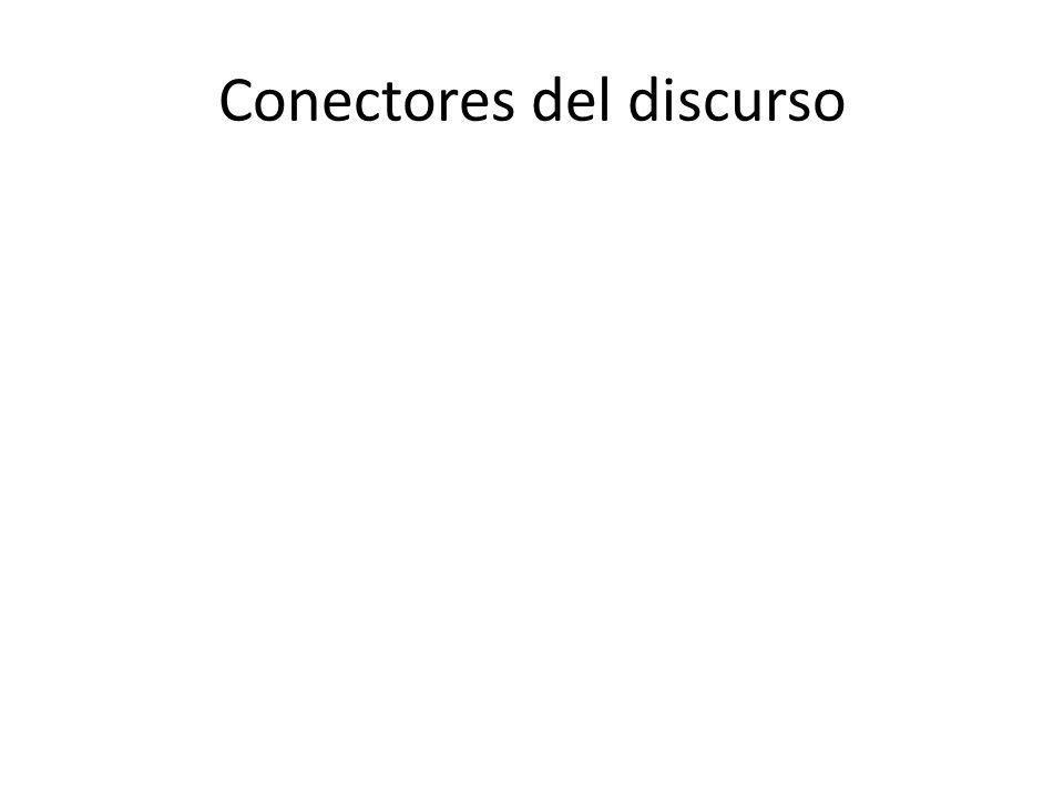 Conectores del discurso
