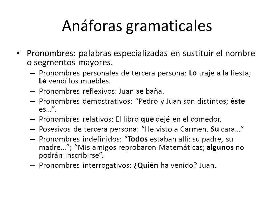 Anáforas gramaticales