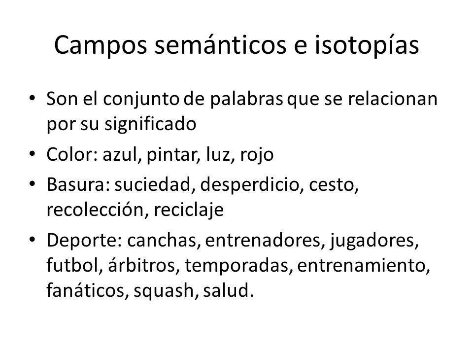 Campos semánticos e isotopías