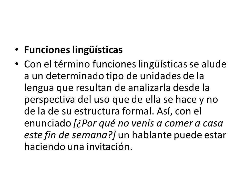 Funciones lingüísticas