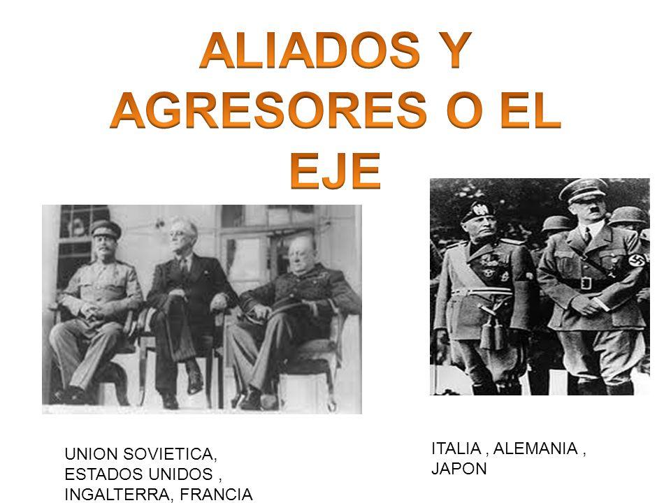 ALIADOS Y AGRESORES O EL EJE