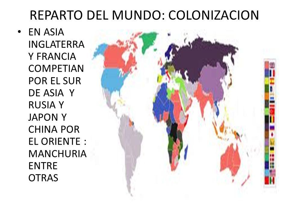 REPARTO DEL MUNDO: COLONIZACION