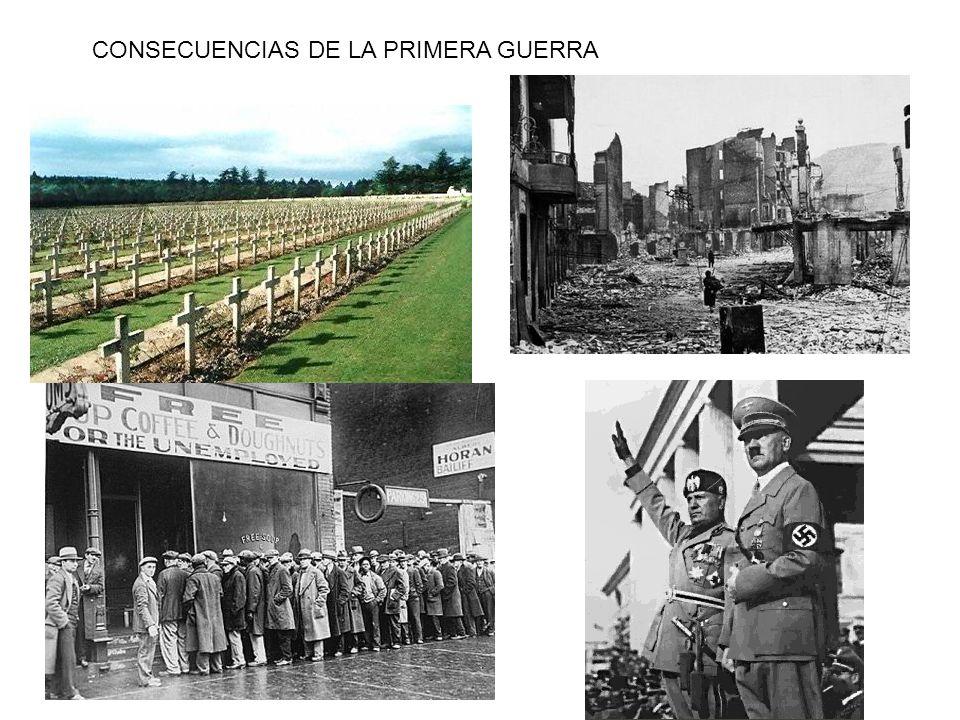 CONSECUENCIAS DE LA PRIMERA GUERRA