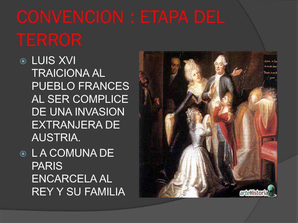 CONVENCION : ETAPA DEL TERROR