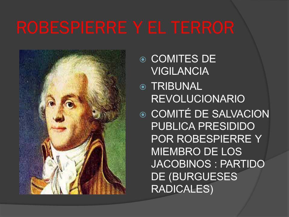 ROBESPIERRE Y EL TERROR