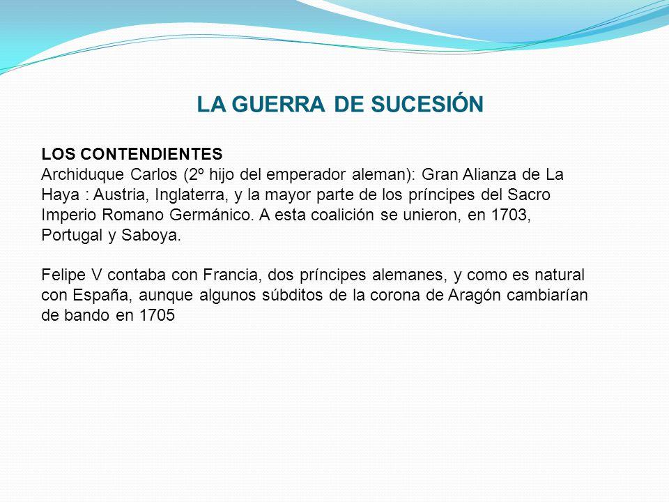 LA GUERRA DE SUCESIÓN LOS CONTENDIENTES