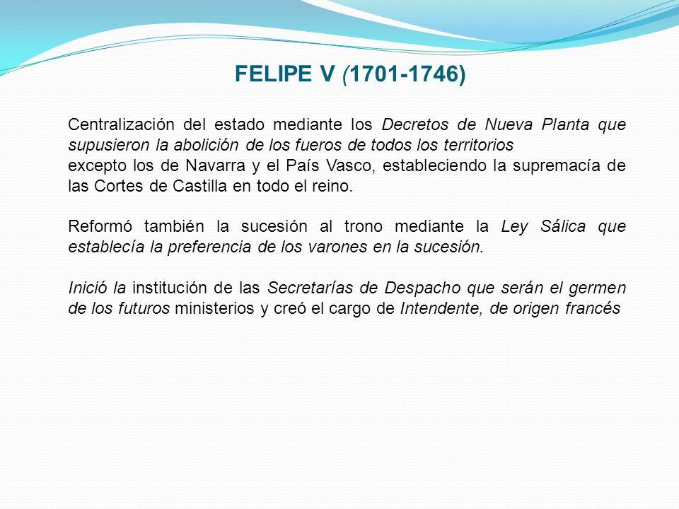 FELIPE V (1701-1746)