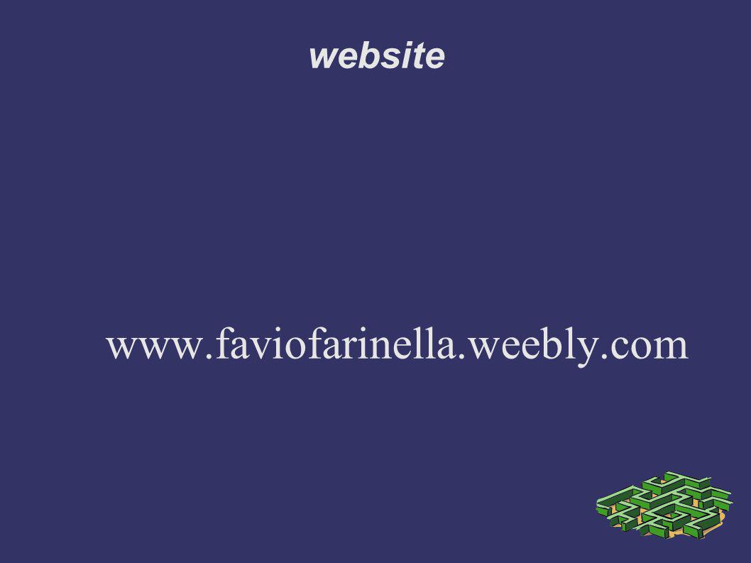 website www.faviofarinella.weebly.com