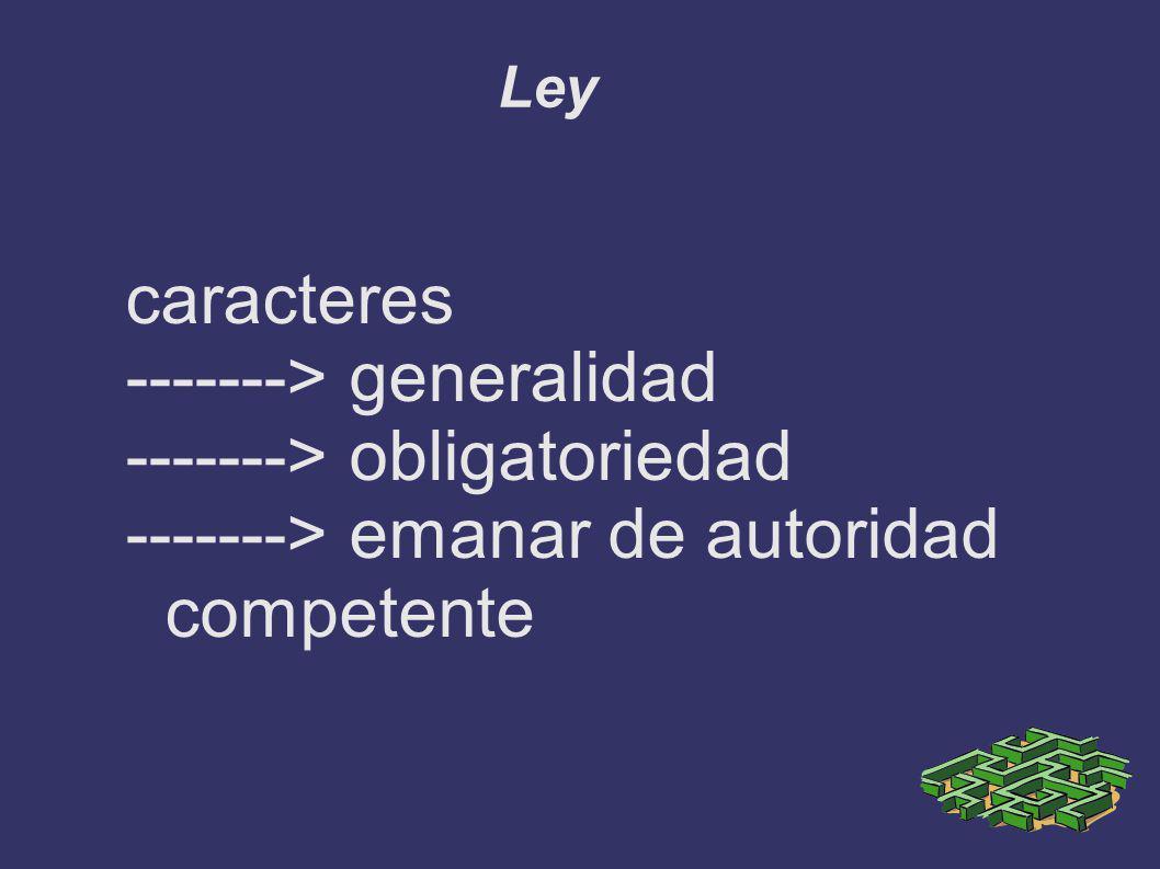 -------> generalidad -------> obligatoriedad