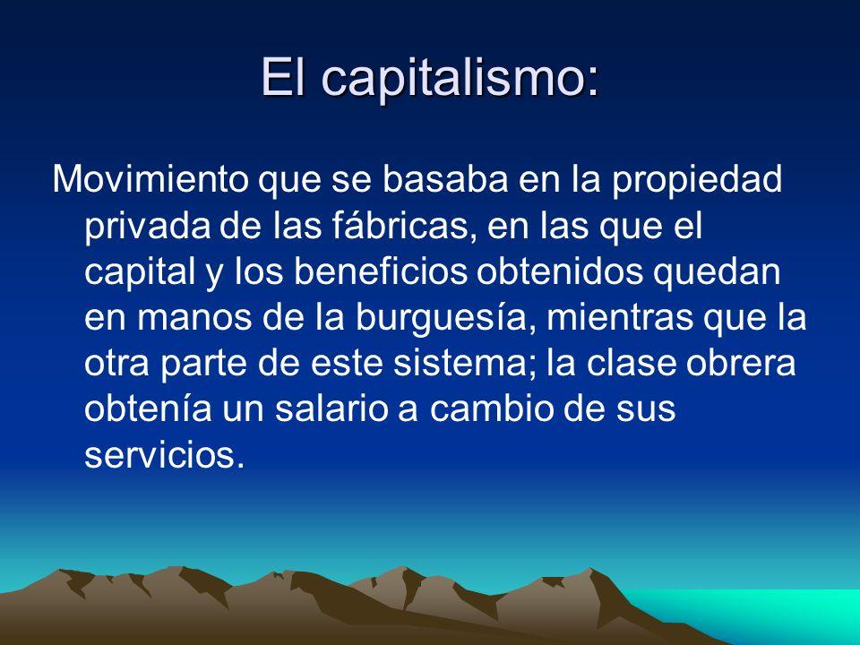 El capitalismo: