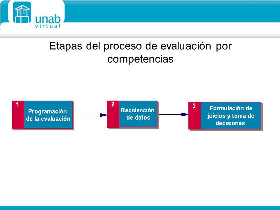 Etapas del proceso de evaluación por competencias